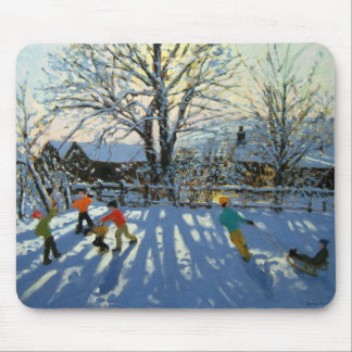 Fun in the snow Tideswell Derbyshire Mouse Pad