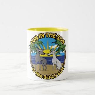 FUN IN THE SUN 45 Mph BEACH BUM Two-Tone Coffee Mug