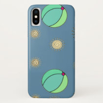 Fun in the Sun beach ball design iPhone X Case