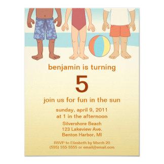 Fun in the Sun Beach Kids Birthday Invitations