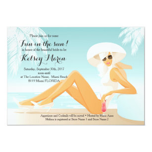 Pool bridal shower invitations announcements zazzle fun in the sun bridal shower pool party invitation filmwisefo