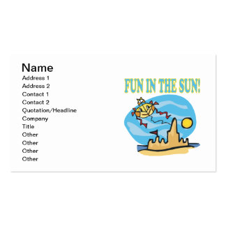 Fun In The Sun Double-Sided Standard Business Cards (Pack Of 100)