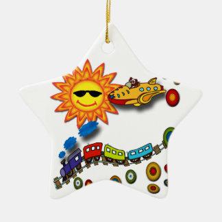 Fun in the sun ceramic ornament