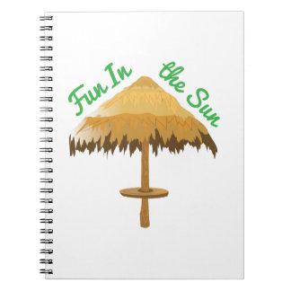 Fun In The Sun Spiral Note Book