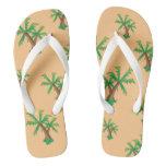 Fun in the Sun Palm Trees Flip Flops