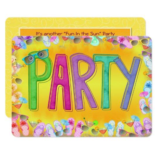 Fun In the Sun Party Card