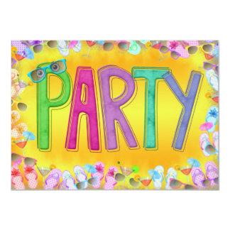 """Fun In the Sun Party 4.5"""" X 6.25"""" Invitation Card"""