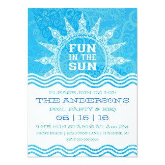 Fun in the Sun Pool Party Invitation
