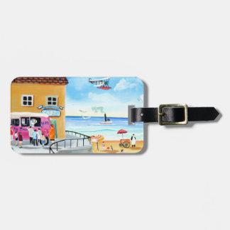 'fun In The Sun' summer beach painting Bag Tag