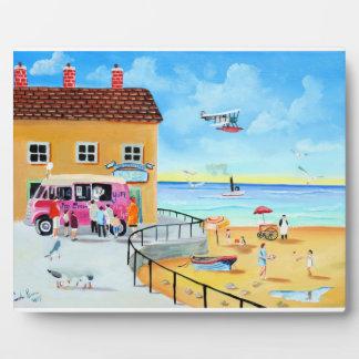 'fun In The Sun' summer beach painting Plaque