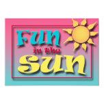 """Fun in the Sun Summer Party invitations 5"""" X 7"""" Invitation Card"""