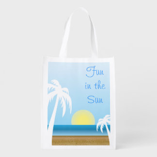 Fun in the Sun Summer Time Reusable Grocery Bags