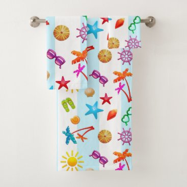 Fun in the Sun Summertime Patterned Towel Set
