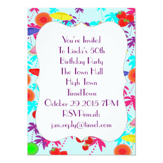 Fun In The Sun Tropical Party Time Invites