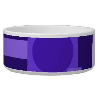 Fun Indigo Purple Blue Geometric Shapes Pattern Bowl
