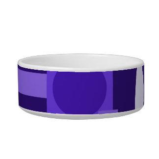Fun Indigo Purple Blue Geometric Shapes Pattern Bowl