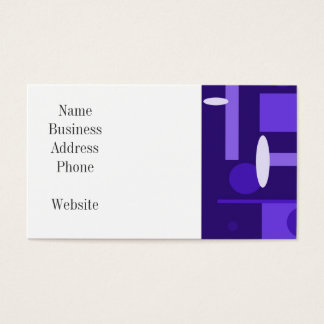 Fun Indigo Purple Blue Geometric Shapes Pattern Business Card
