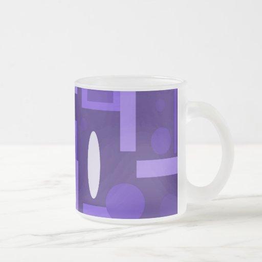 Fun Indigo Purple Blue Geometric Shapes Pattern Coffee Mug