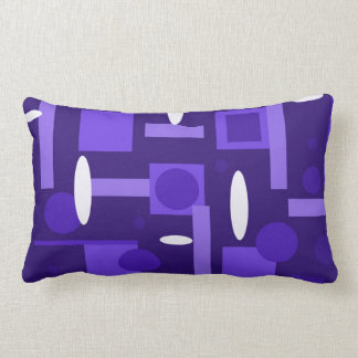 Fun Indigo Purple Blue Geometric Shapes Pattern Pillow