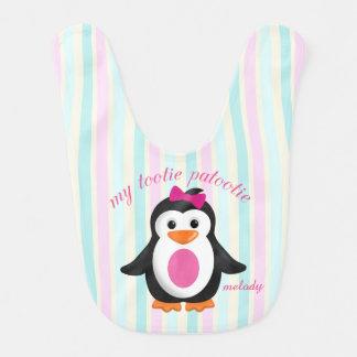 Fun Infant Baby Penguin My Tootie Patootie Baby Bib