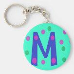 Fun Initial M Keychain