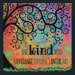"""Fun Inspiring One Kind Word Classroom Poster<br><div class=""""desc"""">This fun, unique and inspirational poster would make a great addition to any classroom. The quote has important meaning and will touch each student in different ways. The hand-drawn design on this print originated from an illustration I created for my Inspirivity Facebook page, (where I create daily, inspirational art.) Most...</div>"""