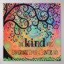 Fun Inspiring One Kind Word Classroom Poster