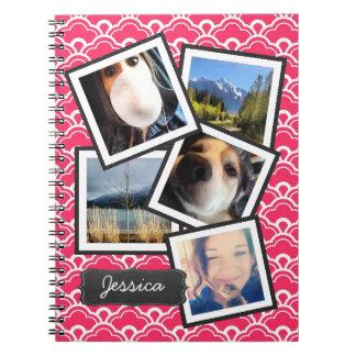 Fun Instagram Photo Collage PINK Notebook