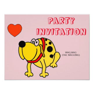 FUN INVITATION TO BARBECUE OR HOUSE PARTY