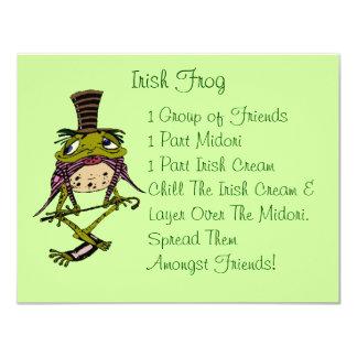 Fun Irish Frog St. Patrick's Day Party Invitation