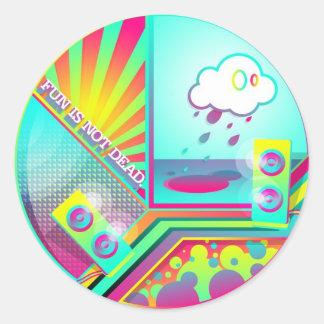 Fun Is Not Dead Classic Round Sticker