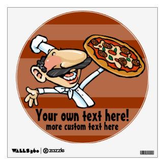 Fun Italian Pizza Chef Wall Decal