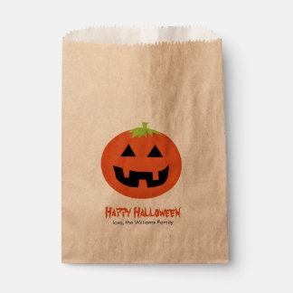 Fun Jack-O-Lantern Halloween Party Favor Bag