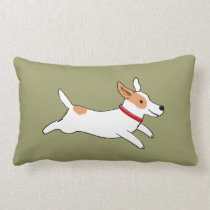 Fun Jack Russell Terrier - Color Customizable Lumbar Pillow