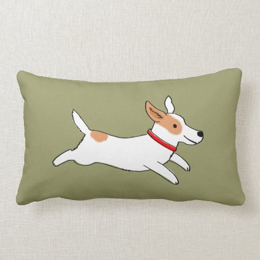 Fun Jack Russell Terrier - Color Customizable Pillows