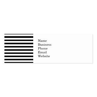 Fun Jailbird Black and White Striped Pattern Business Card Templates