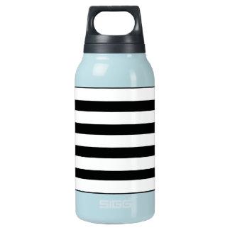 Fun Jailbird Black and White Striped Pattern Insulated Water Bottle
