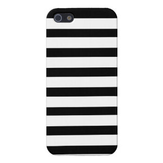 Fun Jailbird Black and White Striped Pattern Cover For iPhone 5