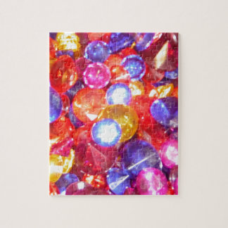 Fun Jewels Gems Colorful Colors Vibrant Pretty Jigsaw Puzzles