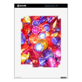 Fun Jewels Gems Colorful Colors Vibrant Pretty Skins For The iPad 2
