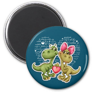 Fun Jurassic Love Valentine's Day Gift Magnets