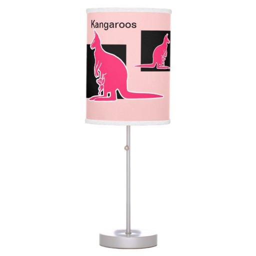 Fun Kangaroos Table Lamp Zazzle