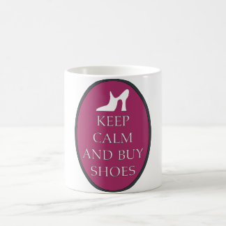 Fun Keep Calm and Buy Shoes Coffee Cup