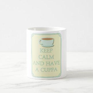 Fun Keep Calm Have a Cuppa Coffee Cup