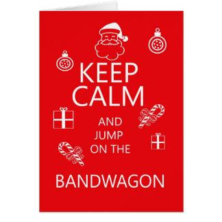 Fun keep calm holiday greeting card