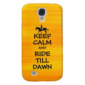 Fun Keep Calm & Ride Till Dawn Horse Galaxy S4 Cover