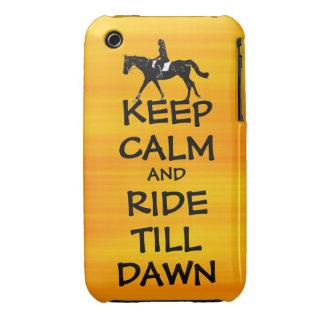 Fun Keep Calm & Ride Till Dawn Horse iPhone 3 Case-Mate Case