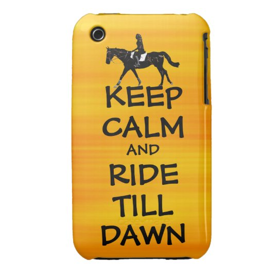 Fun Keep Calm & Ride Till Dawn Horse iPhone 3 Case-Mate Case