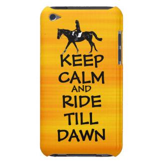 Fun Keep Calm & Ride Till Dawn Horse iPod Case-Mate Case