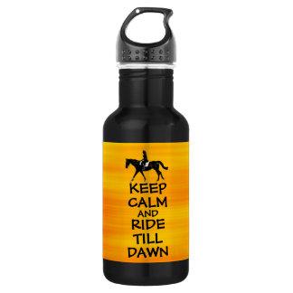 Fun Keep Calm & Ride Till Dawn Horse 18oz Water Bottle